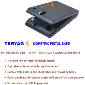 TARYAG 770 New Technology Portable Biometric Pistol Safe
